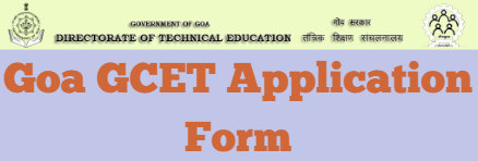 Goa GCET Application Form