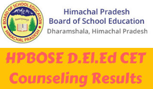 HPBOSE D.El.Ed CET Counseling Results 2020