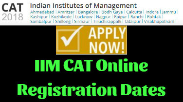 IIM CAT Online Registration Dates