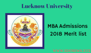 Lucknow University MBA admissions