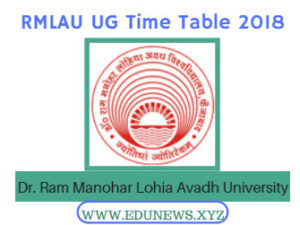 RMLAU UG Part-1/2/3 Time table 2018