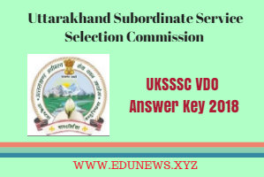 UKSSSC VDO Answer Key