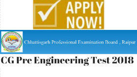CG VYAPAM Pre Engineering Test PET 2018