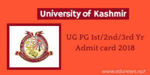 Kashmir University Admit Card