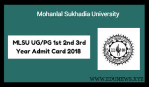 MLSU UG PG 1st 2nd 3rd year Admit Card 2018