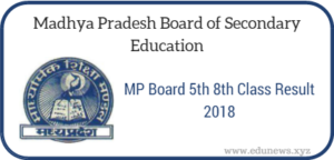 MP Board 5th and 8th Class Result 2018