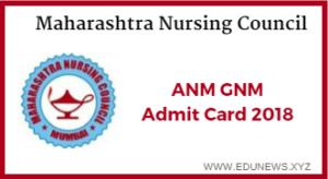 Maharashtra Nursing Council ANM GNM Hall Ticket 2018