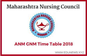 Maharashtra nursing council ANM GNM Time Table 2018