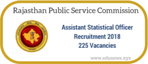 RPSC Assistant Statistical Officer Recruitment 2018