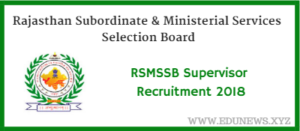 RSMSSB Supervisor Women Recruitment 2018 180 vacancies