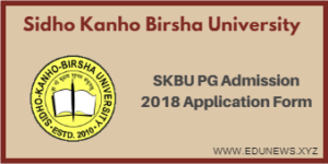 SKBU PG Admission 2018 Application Form