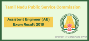 TNPSC Assistant Engineer AE Result 2018