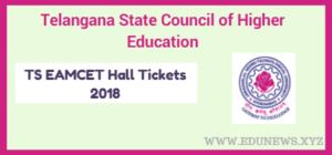 TSCHE TS EAMCET Hall Tickets 2018 download