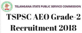TSPSC AEO Grade -2 Recruitment 2018