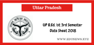 UP B.ed. 1st 3rd semester Date Sheet 2018