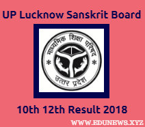UP Sanskrit Board 10th 12th Class Result 2018