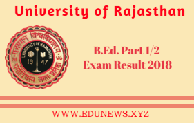 Uniraj B.Ed Part I II Result 2018