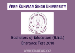 VKSU bed Application Form Entrance Test 2018