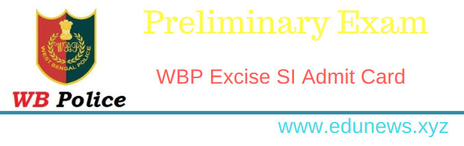 WBP Excise Sub Inspector Admit Card