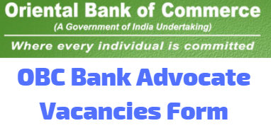 OBC Bank Advocate Vacancies Form