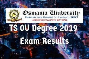 TS OU Degree 2019 Exam Results