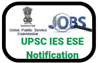 UPSC IES ESE 2019 Notification