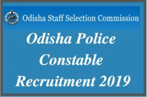 Odisha Police Constable Recruitment 2019
