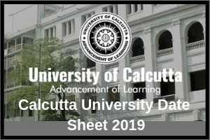 Calcutta University Date Sheet 2019