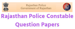 Rajasthan Police Constable Question Papers