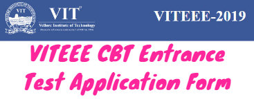 VITEEE CBT Entrance Test Application Form