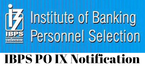 IBPS PO IX Notification