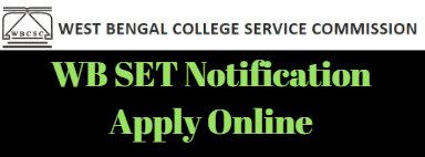 WB SET Notification Apply Online
