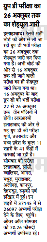 RRB Group D Examination Dates
