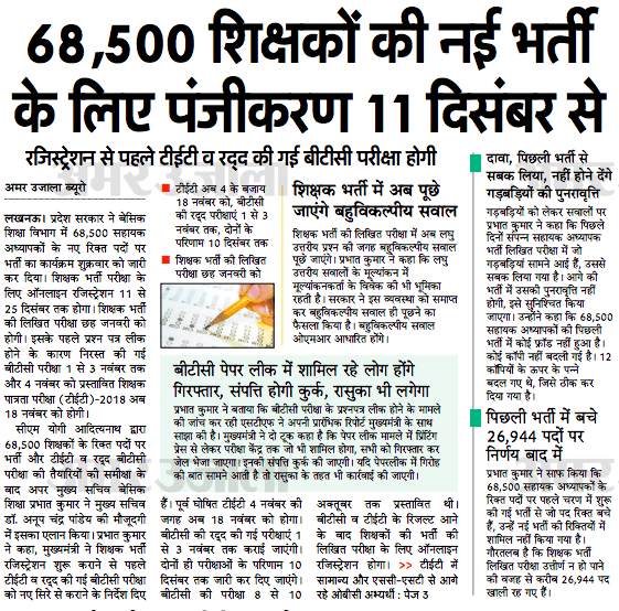 UP 68500 Teacher Notification