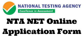 NTA NET Online Application Form