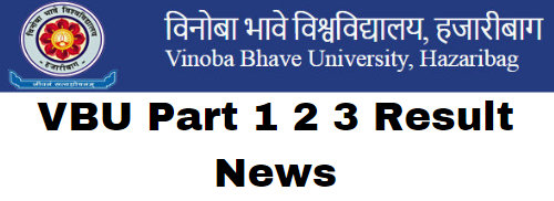 VBU Part 1 2 3 Result News 2020