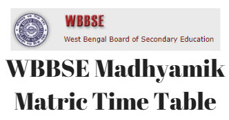 Image result for wbbse time table 2019