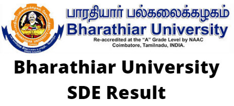 Bharathiar University SDE Result