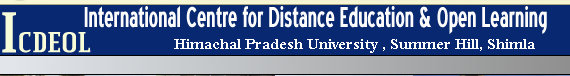 HP University ICDEOL Distance Result 2018