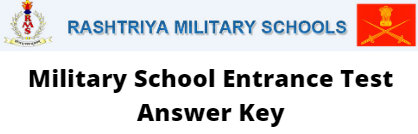 Military School Entrance Test Answer Key 2020-21