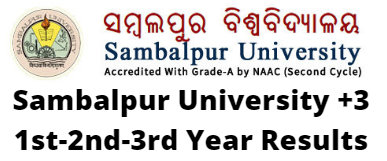 Sambalpur University +3 1st-2nd-3rd Year Results 2020