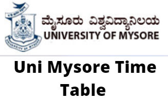 Uni Mysore Time Table