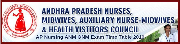 AP Nursing ANM GNM Exam Time Table 2019