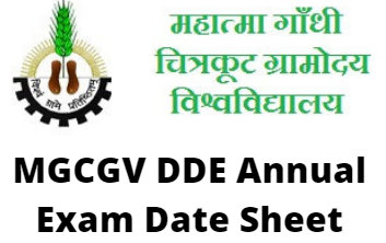 MGCGV DDE Annual Exam Date Sheet