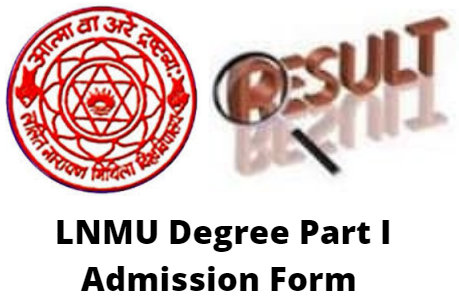 LNMU Degree Part I Admission Form